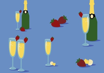 Free Strawberry Mimosa Vector - Free vector #352737