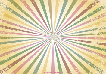 Retro Sunburst Grunge Vector Background - Kostenloses vector #352747