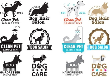 Dog Wash Logo Vectors - vector gratuit #352827
