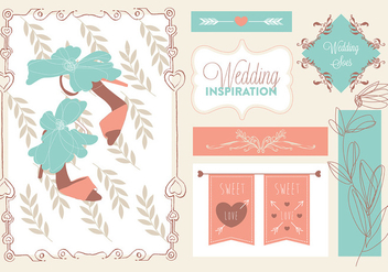 Free Bride Vector Elements - бесплатный vector #352837