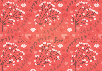 Red Flower Vector Seamless Pattern - Free vector #352857