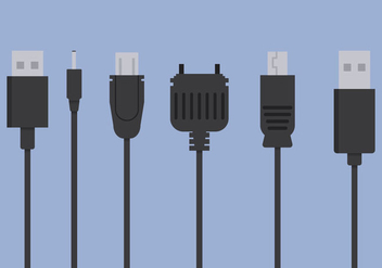 Phone Charger Vector - vector gratuit #352867