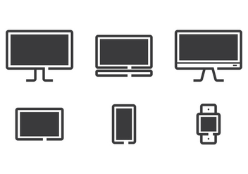 Technology Line Icon Vectors - Free vector #352877