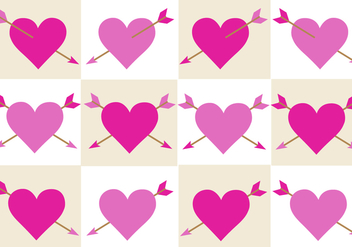 Free Valentines Arrow Vector - бесплатный vector #352887