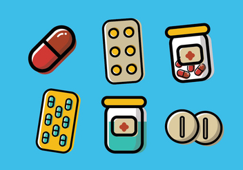 Pill Box Vector - vector #352977 gratis