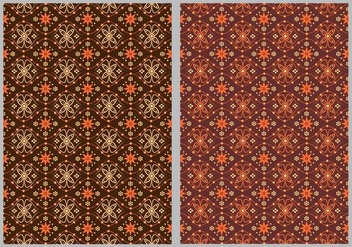 Batik Background Vectors - Free vector #352997