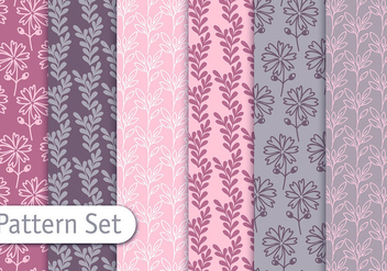 Soft Nature Pattern Set - vector gratuit #353057