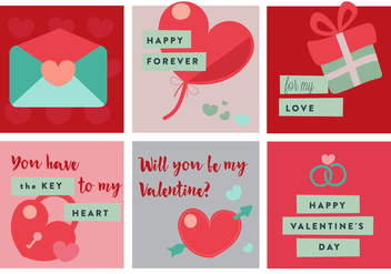 Free Valentine's Day Vector Elements And Icons - Free vector #353137
