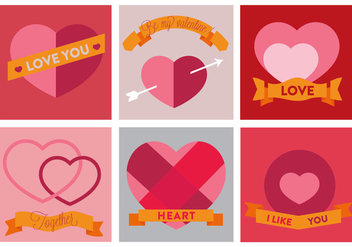 Free Vector Heart Icons - бесплатный vector #353197