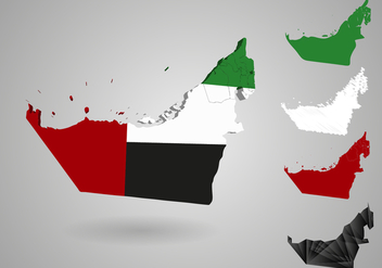 Uae Map Illustration Vector - Kostenloses vector #353217