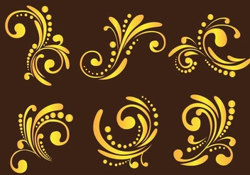 Western Flourish Ornament - vector gratuit #353227