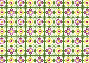 Talavera Flower Seamless Pattern - Free vector #353257