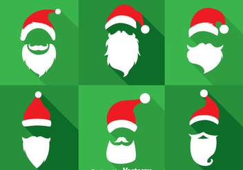 Sinterklaas Hat And Beard Collection Vector Sets - Free vector #353267