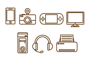 Free Technology Vector Icon #1 - vector #353287 gratis