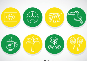 Brasil Circle Icons - vector gratuit #353297