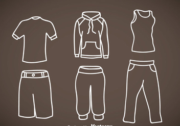 Tracksuit Hand Drawn Vector Icons - Free vector #353327