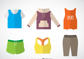 Tracksuit Flat Icons Vector Sets - бесплатный vector #353347