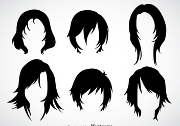 Girl Hairstyles Vector Sets - бесплатный vector #353397