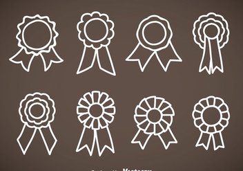 Cockade Hand Drawn Icons Vector Sets - vector gratuit #353417