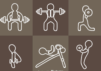 Exercising Icon Vectors - vector #353447 gratis