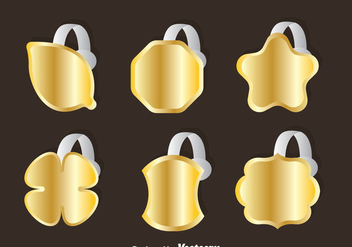 Golden Wobbler Vector Sets - vector #353487 gratis
