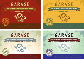 Vintage Garage Oil Change poster design - vector gratuit #353517