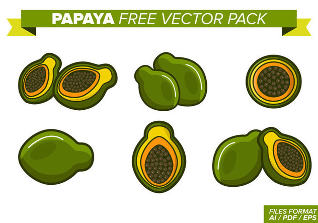 Papaya Free Vector Pack - vector #353557 gratis