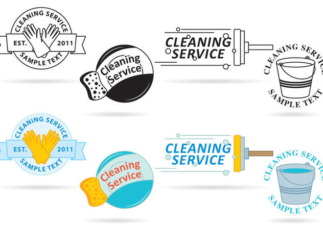 Cleaning Service Logo Vectors - Free vector #353637