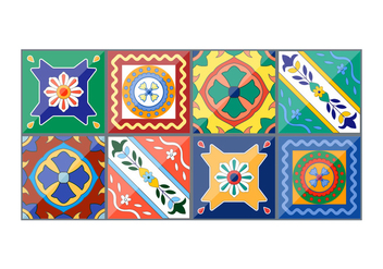 Beautiful Vector Spanish Ceramics - бесплатный vector #353707
