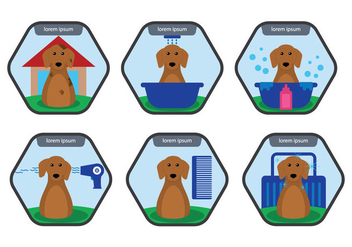 Dog Wash Vector - vector gratuit #353767