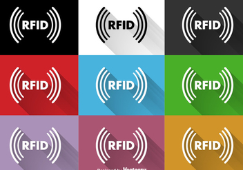 Vector RFID Flat Signs - Free vector #353897
