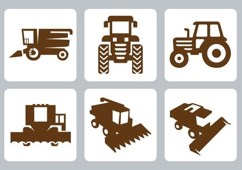 Free Tractor Icons Vector - vector #353927 gratis