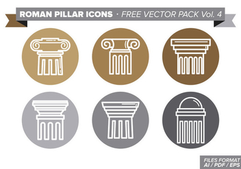 Roman Pillar Icons Free Vector Pack Vol. 4 - бесплатный vector #353997