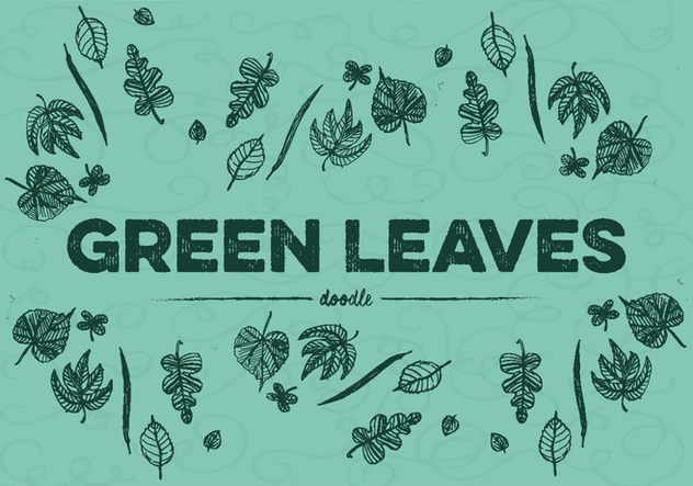 Free Green Leaves Vector - Kostenloses vector #354007