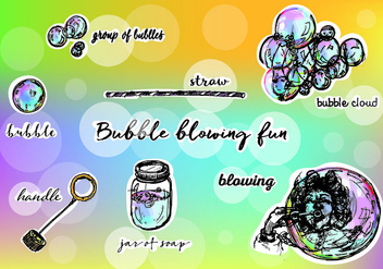 Illustration Of Free Vector Bubbles - бесплатный vector #354027