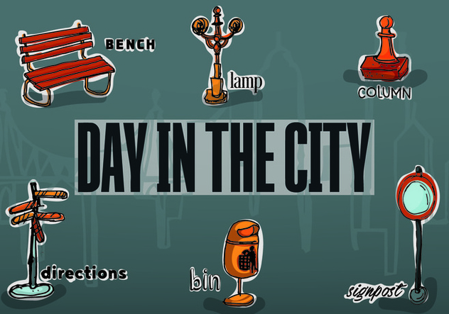 Free Vector City Objects - Free vector #354047