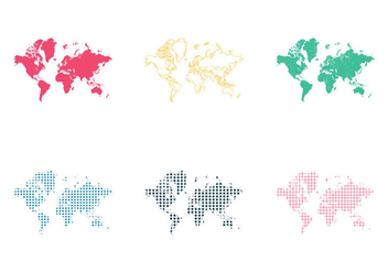 Free World Map Vector Illustration - Free vector #354077