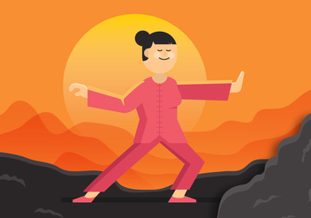 Vector Tai Chi Woman - vector gratuit #354117