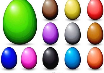 Dyed Vector Easter Eggs - vector gratuit #354157