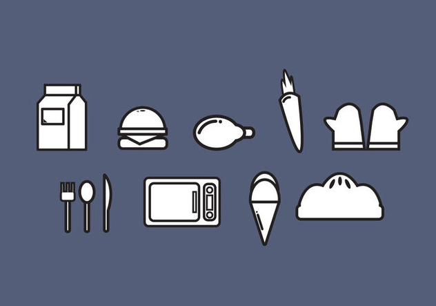 Free Icon Food Vectors - бесплатный vector #354167