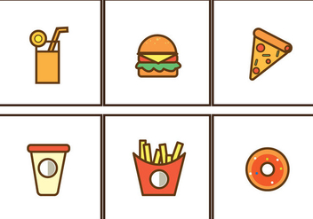 Free Fast Food Icon illustration Vector - Kostenloses vector #354187