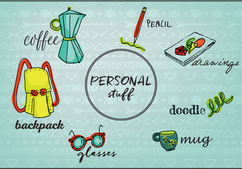 Free Personal Stuff Objects Background - vector gratuit #354197