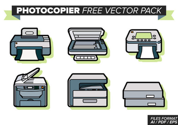 Photocopier Free Vector Pack - бесплатный vector #354227
