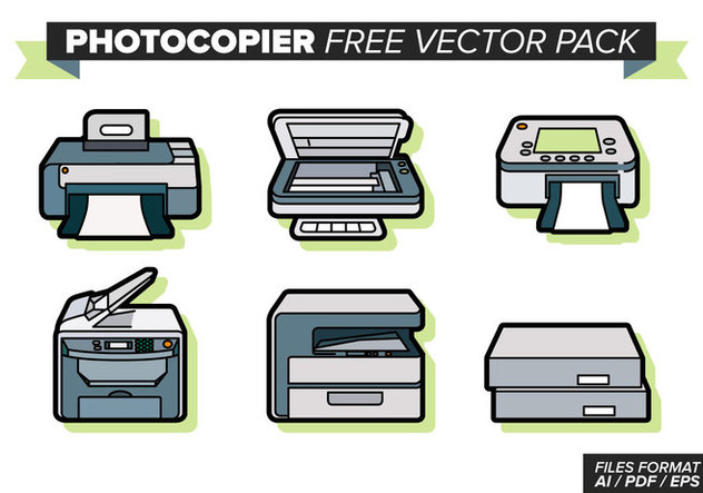 Photocopier Free Vector Pack - Kostenloses vector #354227