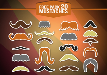 Movember Mustache Pack Vector - Free vector #354247