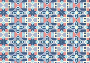 Geometric Tiled Pattern Background - vector gratuit #354257