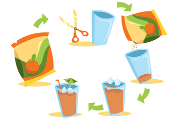 Juice Mix Beverage Vector Set - Free vector #354277