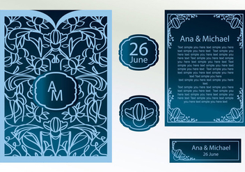Laser Cut Invitation Vector - vector gratuit #354287