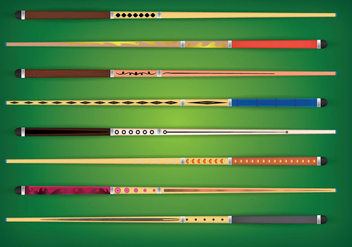 Pool Stick Vector - Free vector #354297