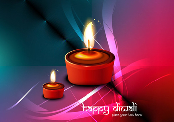 Lit Oil Lamps For Diwali Festival - vector gratuit #354387